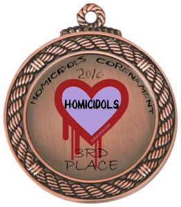 Digital badge awarded to the third place finisher in the 2016 Homicidols Corenament